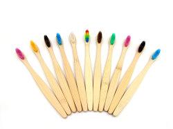 Toothbrush di bambù naturale con la setola personalizzata di colore