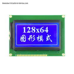 Het hete Verkopende Scherm van de Vertoning van 128X64 Grafische LCD 20 het Zwart-wit 12864 LCD van de Speld Comité van de Module