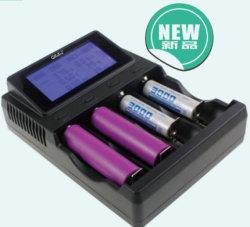 USB ausgegebenes MultifunktionsLadegerät der aufladeeinheits-DC12V/4A LCD 18650 für 4 Batterie-Zellen-Aufladeeinheit des PCS-Lithium-Ion18650