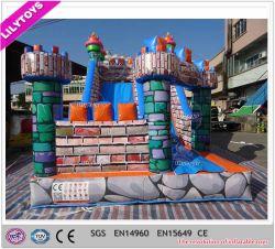 Haut de l'impression bâche Type le plus récent Inflatable Bouncer Faites glisser pour les enfants
