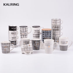 Tasse en céramique du nouvel os de la Chine Mug Tasse de voyage avec couvercle tasse à café pour le commerce de gros
