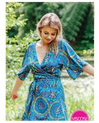 Mode Poplin Viscose de vêtements de détente Pyjama peignoir de bain Vêtements de nuit Vêtements de nuit