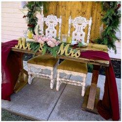 10ft 버건디 쉬폰 테이블 러너 순전히 직물 러너 2개 로맨틱한 테이블 결혼식 생일 파티 장식
