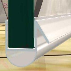 PVC Au-Form 1000mm Länge für 10mm Glas Duschtür Wasser Dichtung