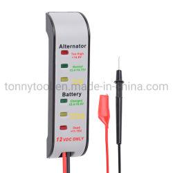 Auto batería de 12 voltios Probador de tensión del sistema de carga Monitor analizador