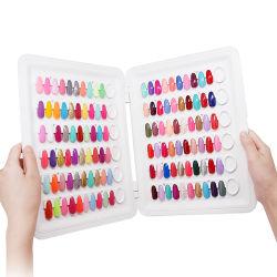 Magnetische sluiting Design 120 kleuren Gel Poolse nagel kleurenkaart Boek weergeven voor weergave van manicure