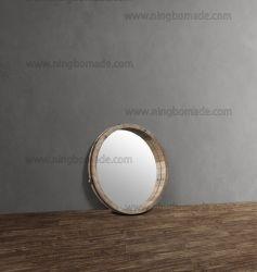 [نورديك] [فرنش] غلّة كرم أثاث لازم طبيعيّة يطالب شجر تنّوب خشب مع سوداء حديد معدن جدار مرآة