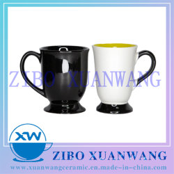 Spezielles unteres keramisches Becher-Tee-Becher-Tee-Cup mit glasig-glänzendem oder Normallack des Ton-zwei mit Abdruck