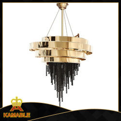 Acero inoxidable decorativos modernos candelabros de cristal Colgante Pendant Lighting (KA00222)