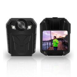 2020サポートAp WiFi/GPSは携帯用2.0inch完全なHD 1296p無線スクリーンの警察ボディカメラを防水する