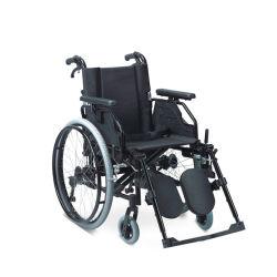 La potencia de acero de aluminio plegable de Stand Up Manual de silla de ruedas silla de ruedas eléctrica plegable con altura regulable y reposabrazos inclinado