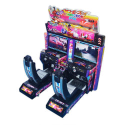 3D d'attractions intérieur d'Outrun 2 Maximum Tune Arcade Game Machine+Simulateur de conduite de voiture de course+Games Video