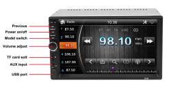 Auto 2 DIN MP3/MP4/MP5 de 7 polegadas sensível ao toque do leitor de Rádio