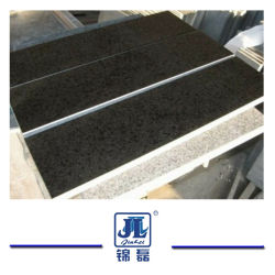 Le Granit Noir/Fuding noire/Black Pearl/G684 en granit noir de dalles, carreaux de plancher, parois, les comptoirs de carreaux de pavage Étapes de construction