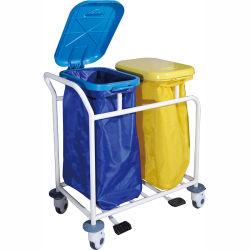 Больница грязной одежды сбора тележки