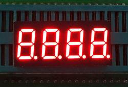 0.36인치 빨간색 흰색 7 세그먼트 4자리 LED 화면