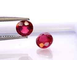 De ronde sneed de Rode Robijnrode Synthetische Robijnrode Parels van het Korund 5# voor het Plaatsen van Juwelen