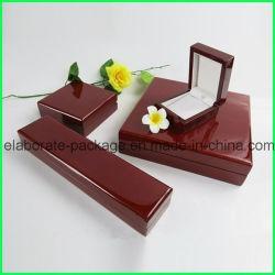 Anel de moda Bangle pendente Ver Colar Caixa de pacote de verniz brilhante de madeira MDF Caixa de jóias