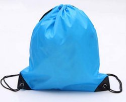 190t210d Terylene mochila de compras para roupa suja