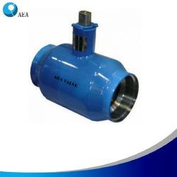 Rusia cavidad llena de gas natural todo el cuerpo de acero al carbono soldadas de soldadura de final de la válvula de bola flotante PN16 PN25 para la calefacción y sistema de gas combustible