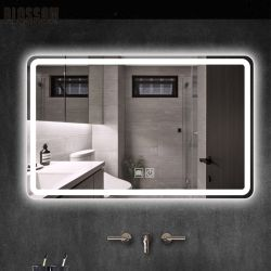 Vidro Inteligente Vaidade Mobiliário Banho LED Espelho de Parede com Luzes