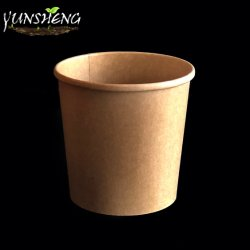 Desechables impresos personalizados cuencos de sopa caliente, el papel de estraza taza, taza de sopa de fideos