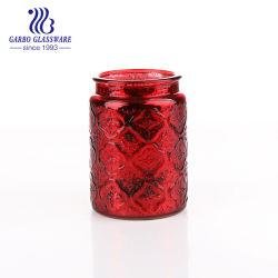 Décoration en verre de couleur rouge de pulvérisation Vase (GO46330730TQ-P1)