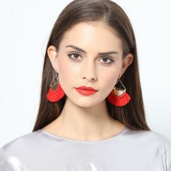 Neue Form-Sektor-Schmucksache-preiswerte Troddel-langer Ohrring für Frauen