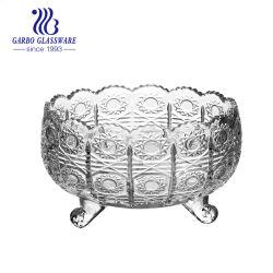 Большой Белый Быстроногий форвард выгравированы шаблон для семян масличного подсолнечника Египет стиле салат мороженое чаши, классический дизайн ГБ1648xty-1