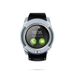 V8 Bluetooth スマートウォッチ 1.22 インチラウンド Smartwatch フィットネスブレスレット SIM TF Phone Watch でスマートウォッチの時計を冷却します