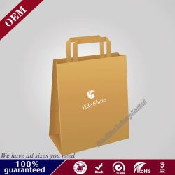 Des couleurs vives des sacs en papier de cadeau pour le parti de luxe cadeau de mariage personnalisé porte sac de papier