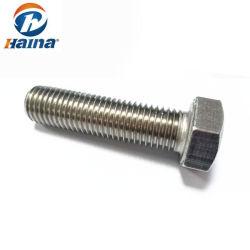 A2 70 A4 80 SS304 SS316 B8 B8m M12 M16 M20 M24 DIN931 DIN933のステンレス鋼の六角頭のボルト