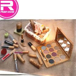 El medio ambiente Material de bambú Kit de Maquillaje sin maquillaje cosmético de bambú de la serie de plástico