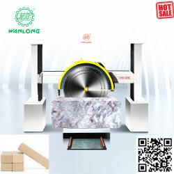 Suministro de la fábrica Wanlong Sierra Mojada la cortadora de bloque de piedra con carro