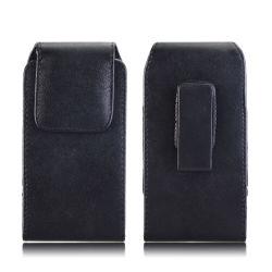 Presilha de cinto de couro Universal Cintura Flip caso a bolsa de pele estojo para a Samsung Nota 9 Bolsa