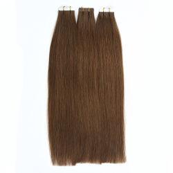 Les matières brutes cambodgien vierge de la bande dans la trame de la peau de PU Remy les Extensions de cheveux humains