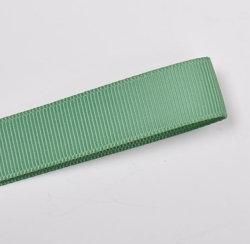 Commerce de gros Grosgrain Ruban en polyester de couleur vert clair pour la décoration de Noël