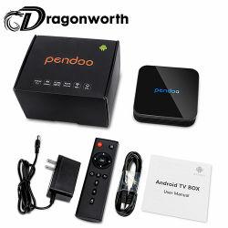 Doos van TV van Ott van de Kern van de Vierling van TV 7.1 van Pendoo X10 S905W 2g16g de Dubbele WiFi Bluetooth Androïde Slimme 4K