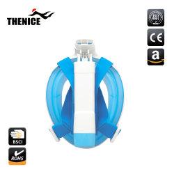 2018年の工場供給のシリコーンのFoldable水泳のダイビングマスクの容易な呼吸スノーケルマスク