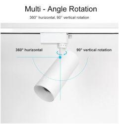 10W 20W 30W L'accent lampe Spot de vente au détail d'éclairage Projecteurs montés en surface magnétique linéaire voie lumière LED de rafles de rampe