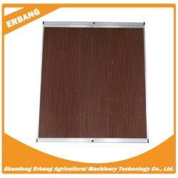 La refrigeración cortina húmedo muro cortina de agua de refrigeración de la cría de la almohadilla de evaporación