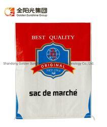 precio de fábrica OEM 25kg 50kg de color blanco de reciclar envases Bolsa tejida PP