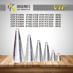 Gfcf1003 1008銀の円錐噴水の氷の段階の屋内祭典の中国の冷たい花火
