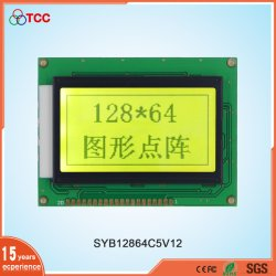 China LCD Standard Industrial Parallel 128X64 Graphic 20Pins Anzeigemodul Aip31107/8 Controller 12864 LCD-Bildschirm