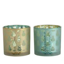 Großverkauf galvanisiert duftendes Kerze-Glasglas-Glaskerze-Halter für Dekoration
