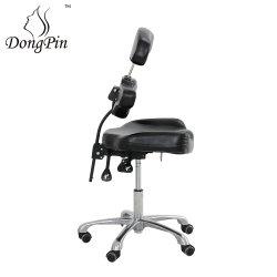 Tatouage des meubles en cuir noir président Barber Chaire maître avec accoudoir