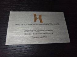 Tarjeta de presentación de aluminio de regalo personalizado de la tarjeta Mental