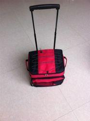Refroidisseur de laminage sac isotherme avec des roues chariot pliable sac du refroidisseur
