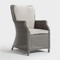 Genf-im Freienpatio, der Stuhl-Garten-Lehnsessel mit Sitzkissen speist