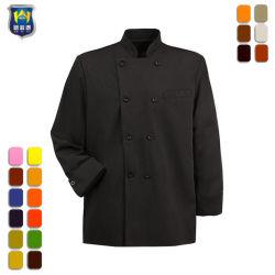 Restaurant de combinaisons de travail personnalisés Chef de cuisine facile d'entretien des vêtements uniforme